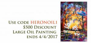 Buy Original Art Monday Promo 500 Dollars Off Large Oil Painting